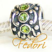 Style Bead Grünes Orakel 925 Sterling Silber, Zirkonia