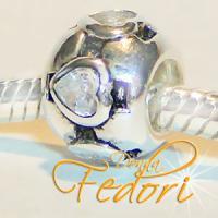 Style Bead Herzenball 925 Sterling Silber, Zirkonia