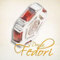Style Bead Kristall Rad rot 925 Sterling Silber, Zirkonia