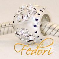Style Bead Kristallkreis 925 Sterling Silber, Zirkonia