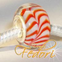 Style Bead Orange Stripes