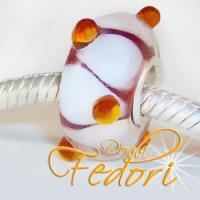 Style Bead Orange-braune Perle
