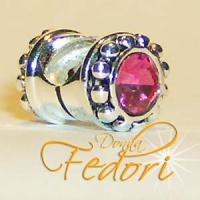 Style Bead Pink Duo 925 Sterling Silber, Zirkonia
