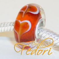 Style Bead Red Hearts