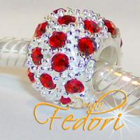 Style Bead Red Snow 925 Sterling Silber, Zirkonia
