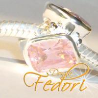 Style Bead Rosa Karat 925 Sterling Silber, Zirkonia