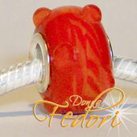 Style Bead Rote Swirlperle