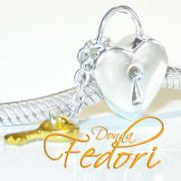 Style Bead Schlüssel zum Herz 925 Sterling Silber