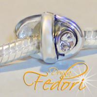 Style Bead Shiny Tie 925 Sterling Silber, Zirkonia