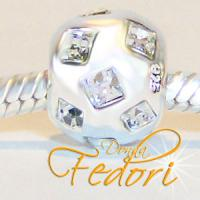 Style Bead Star Ball 925 Sterling Silber, Zirkonia