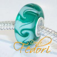 Style Bead Swirling Green-Turquoise Waves