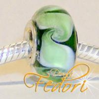 Style Bead Swirling Green Waves