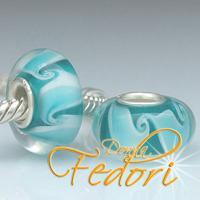 Style Bead Swirling Jade Waves