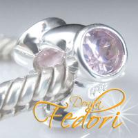 Style Bead Triple Rose 925 Sterling Silber, Zirkonia
