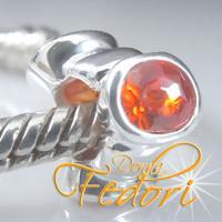 Style Bead Triple Tangerine 925 Sterling Silber, Zirkonia