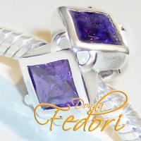 Style Bead Viola Magic 925 Sterling Silber, Zirkonia