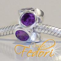 Style Bead Violetta 925 Sterling Silber, Zirkonia