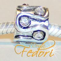 Style Bead Wellen 925 Sterling Silber, Zirkonia