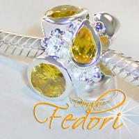 Style Bead Yellow Pride 925 Sterling Silber, Zirkonia