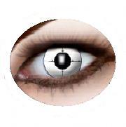 Eyecatcher Color Fun   Farbige  Kontaktlinsen   Target   Weiss Schwarz