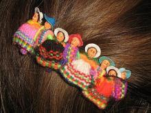Suesse Haarklammer aus Peru