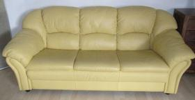 Super gut erhaltene Couchgarnitur aus echtem Leder, italienisches Design