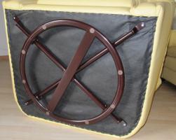 Foto 3 Super gut erhaltene Couchgarnitur aus echtem Leder, italienisches Design