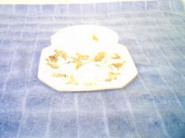 Suppenschale mit Untersetzer, GALLO, ''Lotosblüte Gold''