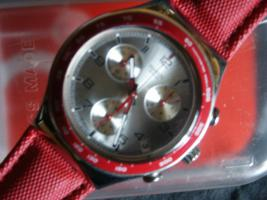 Swatch Chronograph in Rot