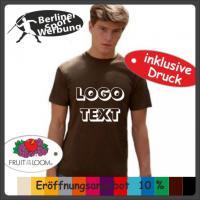 T-Shirt mit deinem Logo � Bild � Text � Werbung