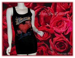 T-Shirt - I love you - Herzen - NEU