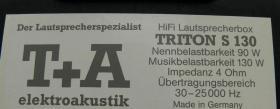 Foto 5 T&A TRITON S130 Standlautsprecher in schwarz, GUTER ZUSTAND, deutscher Spitzenklasse-Hersteller