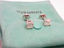 Foto 4 TIFFANY & CO LUCIDA Ohrstecker Platin Diamant