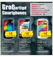 TOP_Angebot bei DSLundMobilfunk.de: Samsung und HTC Smartphones mit Auszahlung