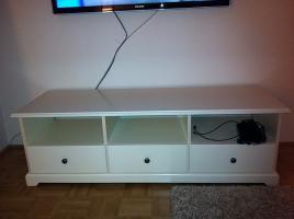 Foto 2 TV Bank und Couchtisch (weiß)