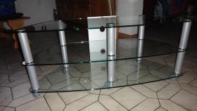 TV-Glasrack 120 cm breit, wie neu