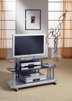 TV Glastisch mit Facettenschliff schwarz