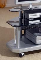 Foto 2 TV Glastisch mit Facettenschliff schwarz