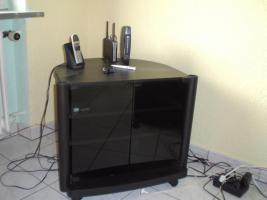 TV-Tisch in schwarz