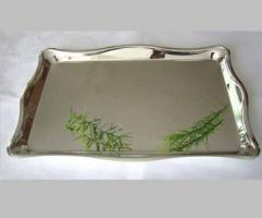 Tablett rechteckig 20x30 cm, Silber Plated, versilbert