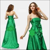 Foto 3 Taft Abendkleid in grün mit Schleppe Gr 44 NEU