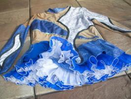 Foto 2 Tanzmariechen Funkenmariechen Gardekostüm mit Strass Einteilig stretch  aufwendig 36 38 40