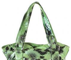 Foto 2 Tasche in Kroko-Look grün Damentasche Schultertasche