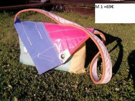 Taschen + Bags aus echten Segeln, handgefertigte Einzelstücke