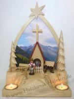 Foto 4 Teelichthalter alpenländisches Gebetshaus (Bergkapelle)