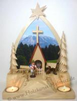 Foto 5 Teelichthalter alpenländisches Gebetshaus (Bergkapelle)