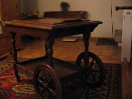 Teewagen im Antik Stil, Vollholz Eiche