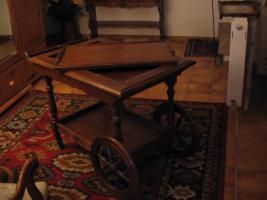 Foto 2 Teewagen im Antik Stil, Vollholz Eiche