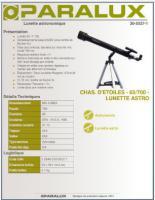 Teleskop Paralux Lunette mit Koffer