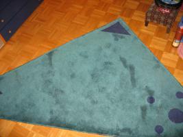 Teppich in Blautönen für Kinderzimmer, Wohnzimmer, Schlafzimmer oder Jugendzimmer